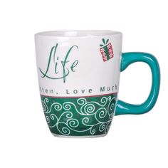 Emotion Mugs - Life Rs. 299.00   Message on the Mug: Live well, Laugh often, Love much