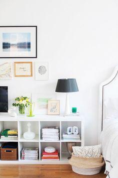 Chic + modern Coco+Kelley bedroom: http://www.stylemepretty.com/living/2015/11/12/cocokelleys-bright-seattle-loft-tour/