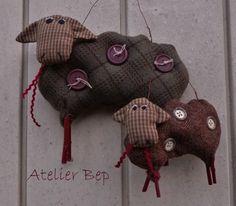 Schapenquiltje en Setje Schapen | Quilts ontworpen door Atelier Bep | Atelier Bep