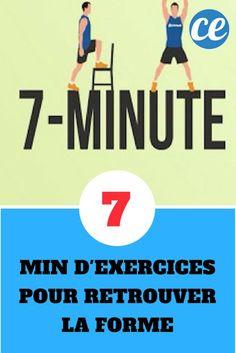 """Méthode """"7 Minute Workout"""" ou Comment Retrouvez la Forme en 7 Min d'Exercices."""