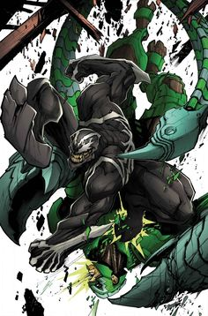 And it begin with our old friend Scorpion(Mac Gargan) and getting his behind whoop by Venom.
