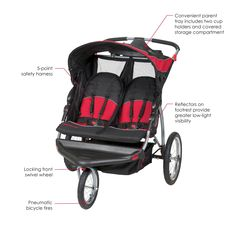 Baby Trend Expedition Double Jogger, Elixer : Jogging Strollers