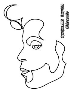 Day 359  'Prince' one line drawing. I've been meaning to do this for a while. I have a playlist that alternates between Hendrix and Prince. Can you imagine those two jamming? Wow!  #project365 #fabcow #francisleavey #oneline #oneliner #onelineart #onelinedrawing #prince #celebrateprince