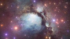 Messier 78 Nebula Space Travel 01 - Stock Footage | by Mediemakern