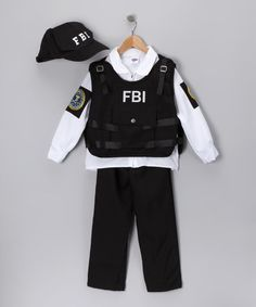Loving this Black FBI Agent Dress-Up Set - Kids on #zulily! #zulilyfinds
