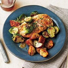 Chicken with Brussels Sprouts and Mustard Sauce Recipe | CookingLight.com