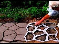 (52) Form - Garden Path. Handmade garden walkway. - YouTube