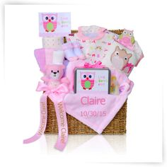 Cashmere Bunny Look Whoos Here Gift Trunk for Girls Gift Basket