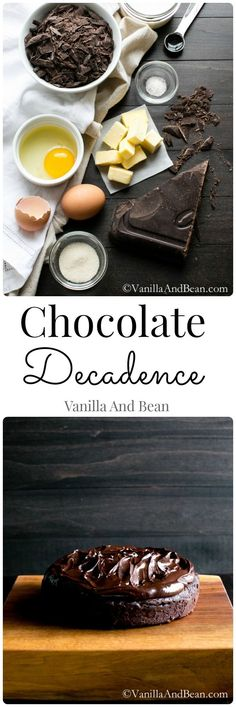 Chocolate Decadence – Vanilla And Bean Easy to whip up. it's the waiting to chill that's the hardest part. Rich and oh so decadent, Chocolate Decadence Cake Just Desserts, Delicious Desserts, Dessert Recipes, Yummy Food, Cake Recipes, Chocolate Desserts, Decadent Chocolate, Chocolate Lovers, Cake Chocolate