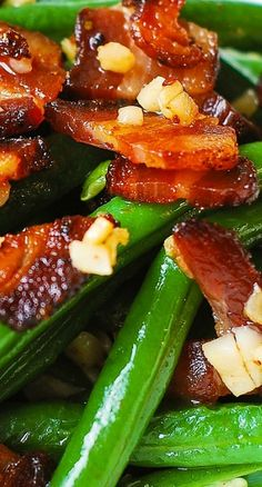 Garlic and Bacon Green Beans