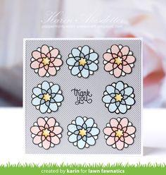 A Pretty Flutter By Card by Karin | Lawn Fawnatics