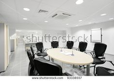 Empty Meeting Room Bank Office Stock Photo (Edit Now) 93338557 Modern Office Design, Office Interior Design, Miami Beach, Banks Office, Commercial Hvac, Florida, Office Setup, Common Area, Business Design