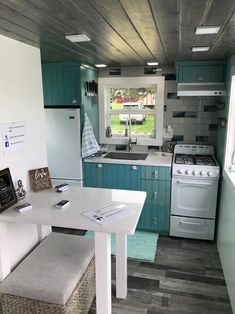 Kitchen & Dining - Serving Window - Beach House by Kamtz Tiny Home Company
