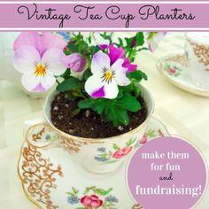 Vintage Tea Cup Planters