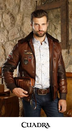 Biker Leather, Leather Men, Leather Jacket, Sharp Dressed Man, Well Dressed Men, Leather Fashion, Mens Fashion, Cowboy Outfits, Denim Shirt With Jeans