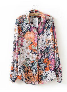 Camisa estampada flores-Multicolor EUR26.56