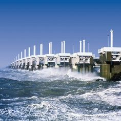 The Delta Works is a series of construction projects to protect the Dutch from the sea. It consist of Dams, sluices, locks, dikes and storm barriers. The Delta Works have been declared one of the Seven Wonders of the Modern World by the American Society of Civil Engineers
