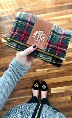 This Plaid Foldover Clutch is a fav winter accessory!