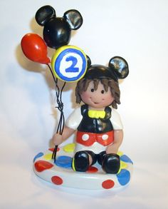 Mickey Mouse Birthday Party Cake Topper by gingerbabies on Etsy