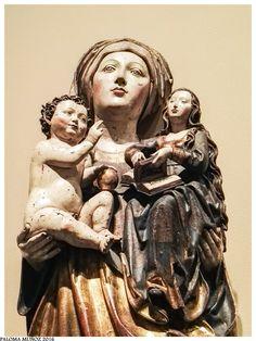 """Museo de Bellas Artes de Bilbao. """"Santa Ana, la Virgen y el Niño"""" círculo de Niklaus Weckmann. Siglos XIII-XIV. (1510-1520). Bilbao Fine Arts Museum. """"Saint Anne, the Virgin and Child"""" Weckmann Niklaus circle. XIII-XIV centuries. (1510-1520)."""