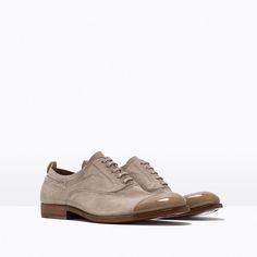 ZARA - NEW THIS WEEK - TOE DETAIL LEATHER LACE-UPS