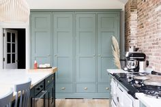 Larder Cupboard, Kitchen Pantry, Farrow And Ball Bedroom, Cabinet Paint Colors, Paint Colours, Cottage Renovation, House Renovations, Handmade Kitchens, Painting Kitchen Cabinets