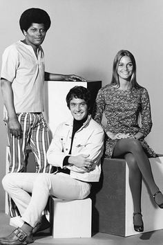 The Mod Squad:   Clarence Williams III as Linc Hayes,  Michael Cole as Pete Cochren, Peggy Lipton as Julie Barnes.