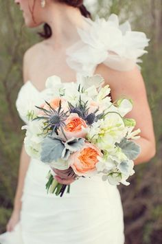 Gorgeously earthy bouquet.  Photo by Sarah Kate Photographer. www.wedsociety.com  #wedding #bouquet