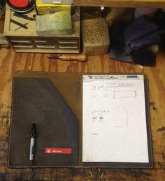 Leather portfolio.