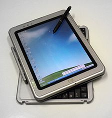 A Tablet PC is a special type of notebook computer that allows you to write or draw on the screen using a digital pen.