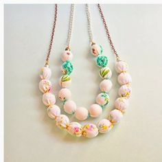 Upcycled Vintage Fabric Wrapped Bead Necklaces 2019 Upcycled Vintage Fabric Wrapped Bead Necklaces The post Upcycled Vintage Fabric Wrapped Bead Necklaces 2019 appeared first on Fabric Diy. Fabric Necklace, Fabric Jewelry, Diy Necklace, Felt Necklace, Ty Dye, Do It Yourself Baby, Diy Collier, Jewelry Accessories, Jewelry Design