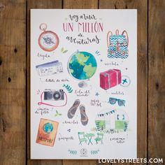 Lámina Lovely Streets - Voy a vivir un millón de aventuras