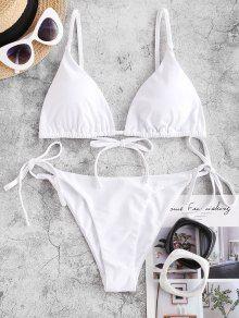 [57% OFF] [EN VOGUE] 2020 ZAFUL Maillot De Bain Bikini Noué à Corde Dans Rose Vif   ZAFUL France Bikini String, Bikini Push Up, Spandex, Nylons, Bikini Volante, Denim Vintage, Tie Dye Fashion, Cheap Swimsuits, Triangle Bikini