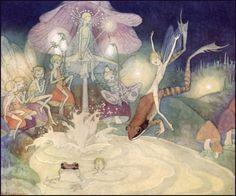 Illustration for Fairy Circus - Dorothy Lathrop Magical Creatures, Fantasy Creatures, Book Of Circus, Mary Blair, Beautiful Fairies, Tove Jansson, Fairy Art, Children's Book Illustration, Faeries
