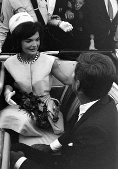 Mrs. Jacqueline Bouvier Kennedy     and President Kennedy