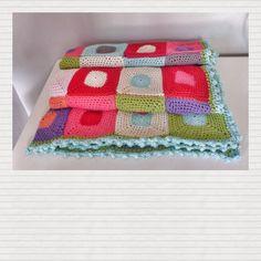 single crochet granny blanket