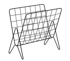 Med sin nätta och luftiga design smälter Odd tidningsställ lätt in i rummet. Odd är tillverkad i lackerad metall som ger ett exklusivt uttryck. Tidningsstället är lika fint bredvid soffan som i sovrummet bredvid sängen.