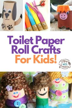Have some extra toilet paper rolls at home? These are EPIC toilet paper roll crafts and activities for kids. Nice and easy and full of fun and learning as well. From STEM challenges, to art projects, there is so much that can be done with a simple toilet paper roll.Toil Easy Arts And Crafts, Crafts For Kids To Make, Art For Kids, Kids Crafts, Kids Fun, Educational Activities For Preschoolers, Creative Activities For Kids, Free Activities, Indoor Activities