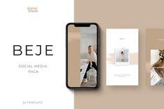 BEJE social media pack by Digital Breath templates on Creative Market - Malia Social Media Branding, Social Media Design, Social Media Marketing, Instagram Story Template, Instagram Templates, Smartphone, Social Media Template, Web Design, Layout Design