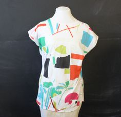abstract graphic tee s m by cheapopulance on Etsy, $25.00
