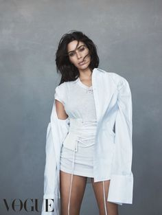 Kim Kardashian Vogue Australia - The Kim Kardashian Vogue Australia cover shoot shows that this reality TV star really is quite versatile in front of the camera. Forgoing her usual...