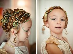 Medusa Costume For Child -@Kathleen *  (here she is...Margot Medusa:)  thought you would like to see my finished work...