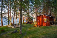 sauna in Finland Swedish Cottage, Outdoor Sauna, Finnish Sauna, Summer Cabins, Scandinavian Home, Summer Breeze, Marimekko, Saturday Night, Helsinki