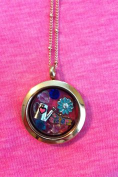 My middle sisters she loves planting flowers. Medium rose gold locket. Mothers Day Present!