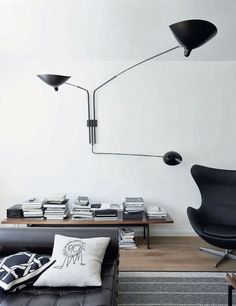 House Tour | A Converted Hamburg Warehouses fabulous blend of grey and brown. Minimal, but comfortable.