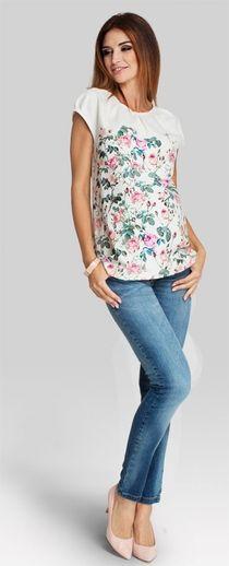 Pastel rose блуза с вободного кроя в цветочный принт для беременных