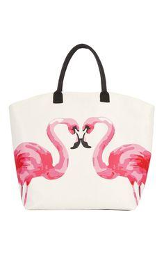 Primark - Rosafarbene Tasche mit Flamingos
