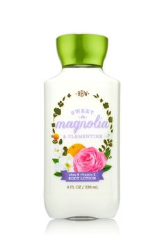 Bath & Body Works Sweet Magnolia & Clementine Body Lotion | A charming blend of sweet magnolia, fresh clementine and spring sandalwood
