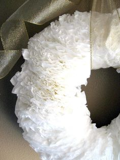 Ginger Snap Crafts: OMTWI round 3 {coffee filter wreath}