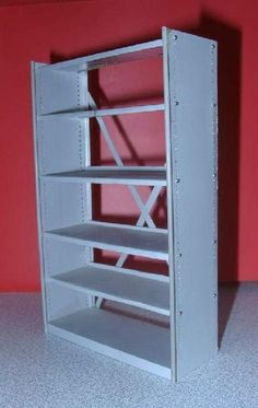 how to: 1:12th scale shelving unit